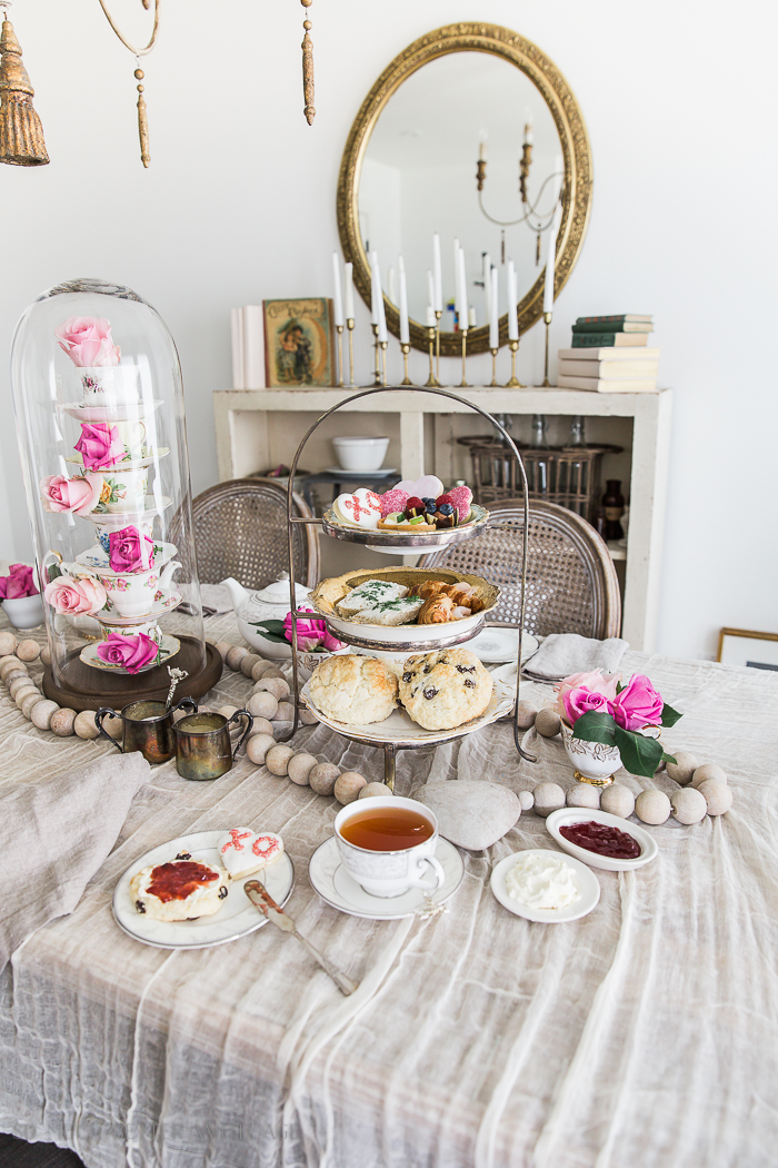 Valentine's Day High Tea Party/tiered tray of scones and desserts - So Much Better With Age