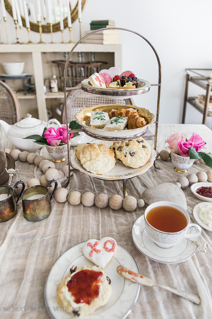 Valentine's Day High Tea Party/tea and scones - So Much Better With Age
