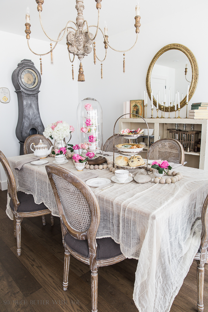 Valentine's Day High Tea Party/French dining room - So Much Better With Age