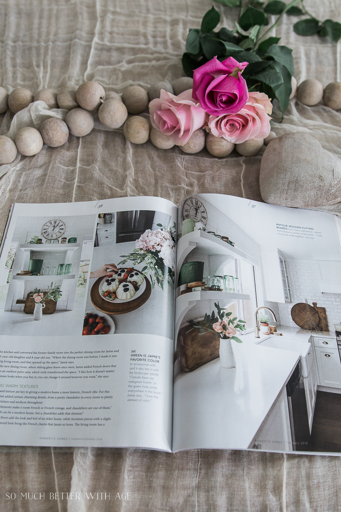 Romantic Homes Magazine/ French vintage house tour - So Much Better With Age