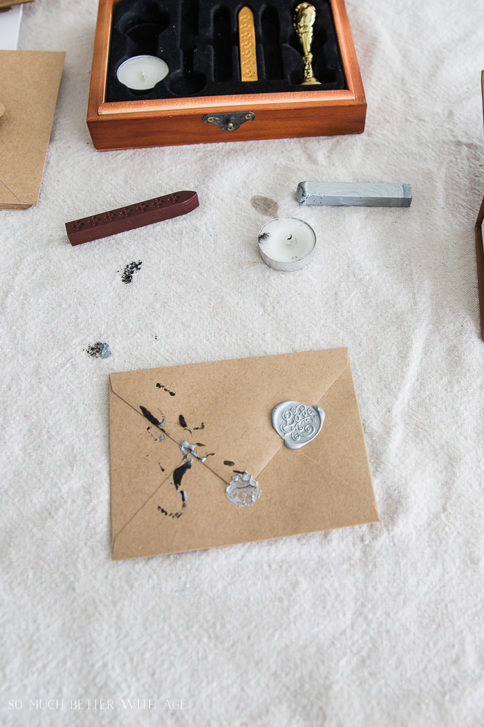Valentine's Wax Seal Cards/practice making wax seals - So Much Better With Age