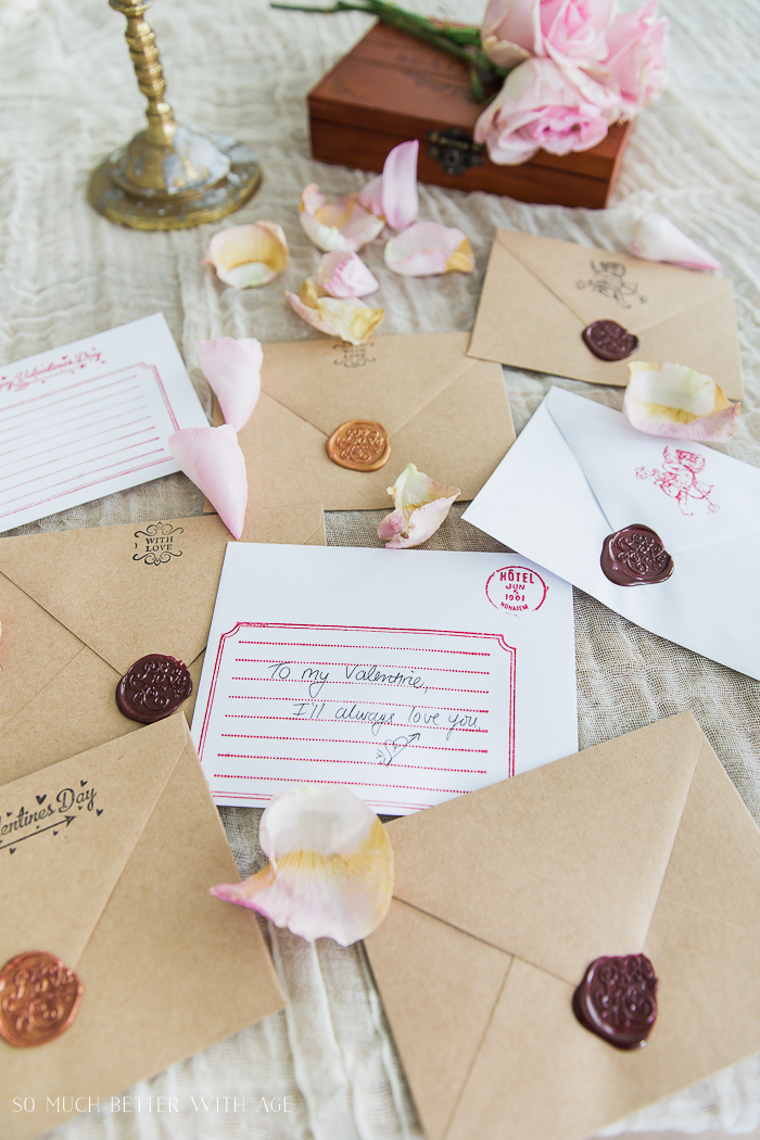 Valentine's Wax Seal Cards/Valentine's day, rose petals - So Much Better With Age