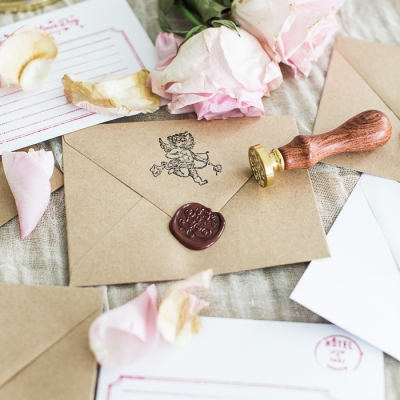 Valentine's Day Wax Seal Cards