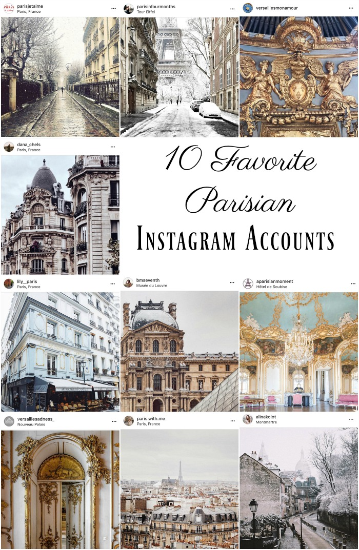 10 Favorite Parisian Instagram Accounts - So Much Better With Age
