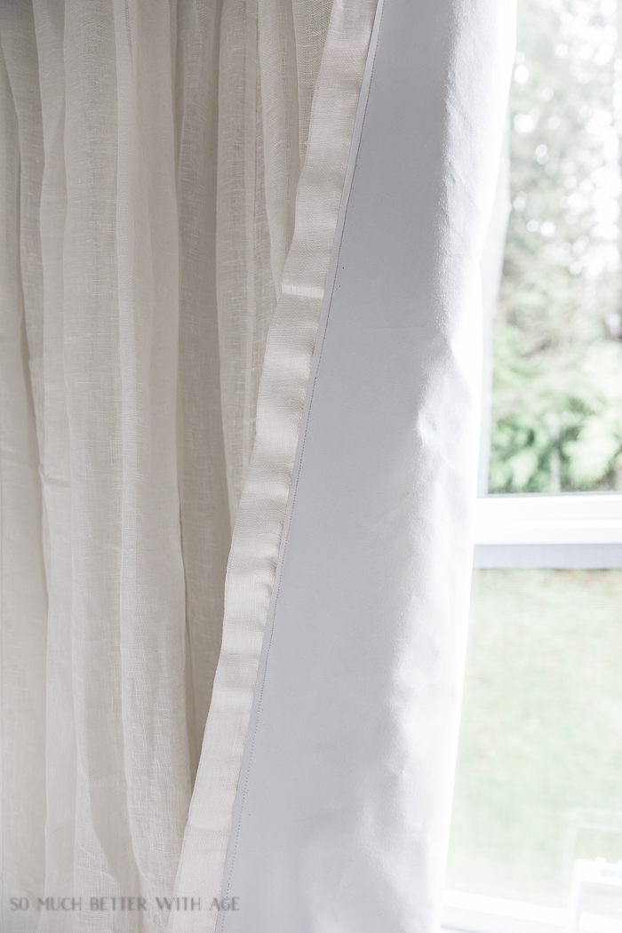 How to Sew Blackout Lining to Store Bought Curtains/ linen curtains - So Much Better With Age