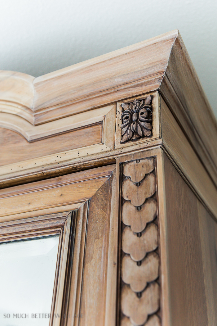 How to Decide Whether or Not to Give Antique Furniture a Makeover/relief detail in wood - So Much Better With Age