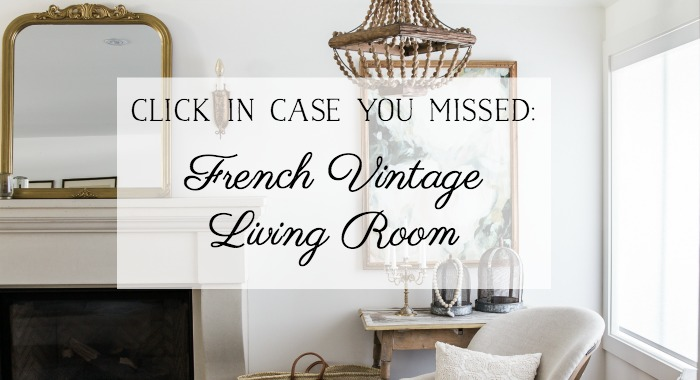 French Vintage Living Room - So Much Better With Age