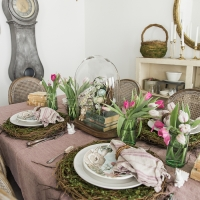 Bunnies, Books and Tulips Easter Table + Video