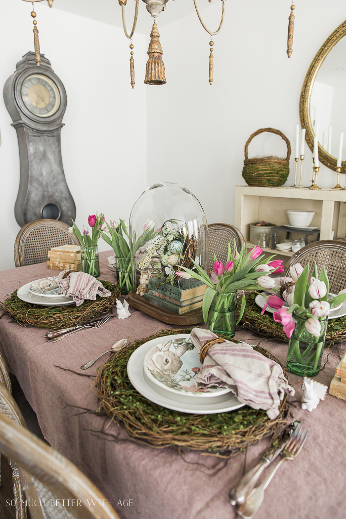 Books, Bunnies and Tulips Easter Table/French Vintage - So Much Better With Age