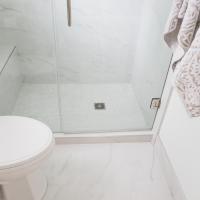 Faux Carrara Marble Porcelain Tile