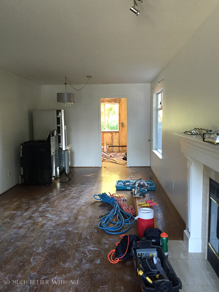 French Vintage Living Room and Foyer/renovating 80s house - So Much Better With Age