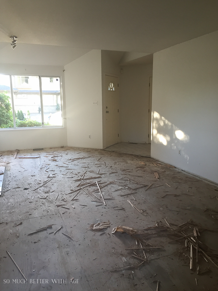 French Vintage Living Room and Foyer/flooring coming up - So Much Better With Age
