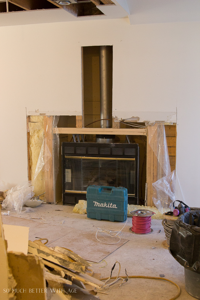 French Vintage Living Room and Foyer/fireplace being replaced - So Much Better With Age
