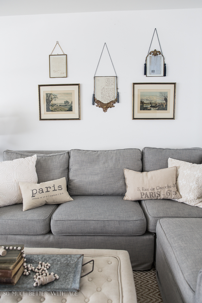 French Vintage Living Room and Foyer/anthropologie gold frames - So Much Better With Age