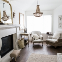 French Vintage Living Room and Foyer – Before and After