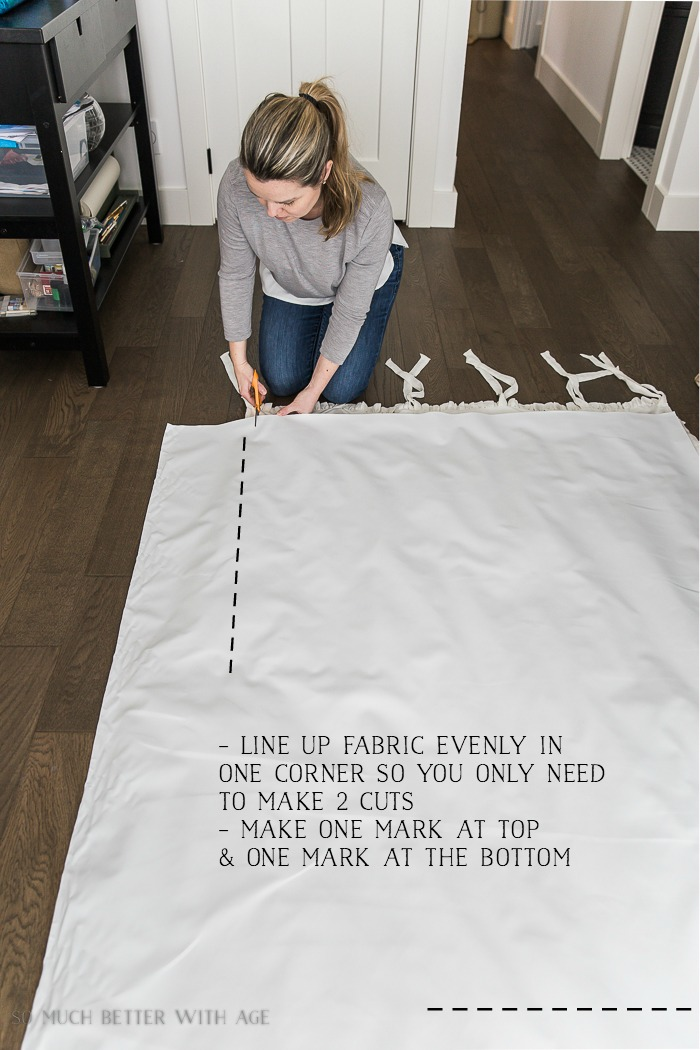 How to Sew Blackout Lining to Store Bought Curtains/cut fabric - So Much Better With Age