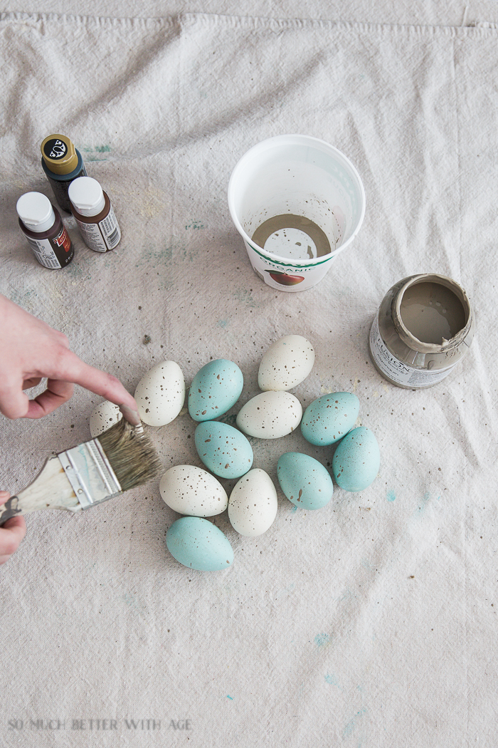 The Perfect Shade of Robin's Egg Blue for Easter Eggs/splatter eggs - So Much Better With Age