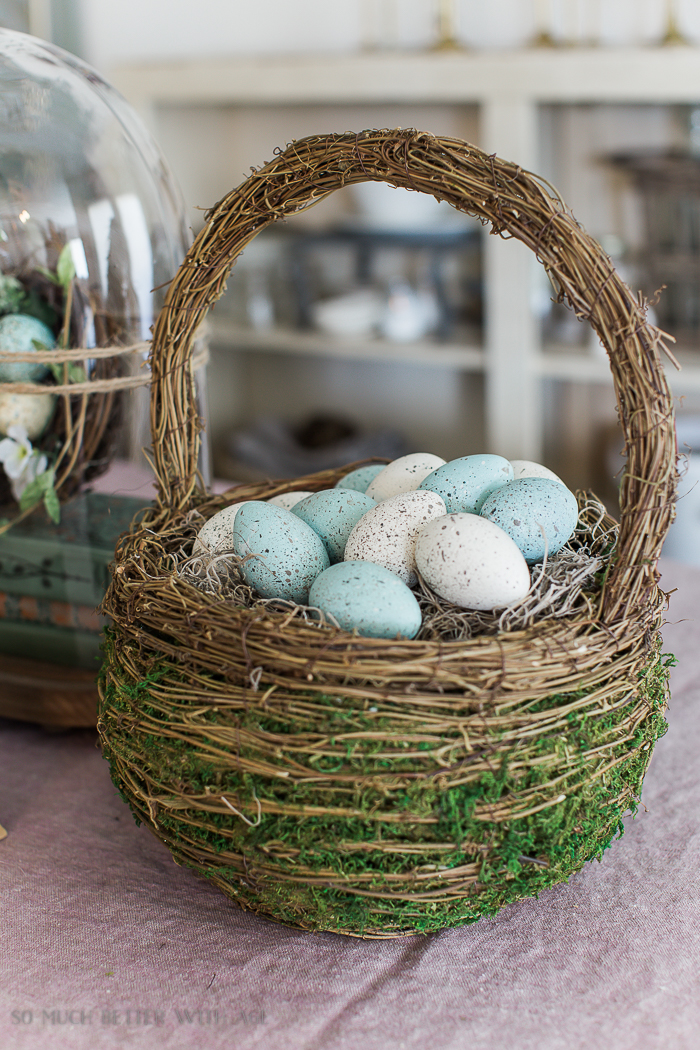 The Perfect Shade of Robin's Egg Blue for Easter Eggs/wicker Easter basket - So Much Better With Age