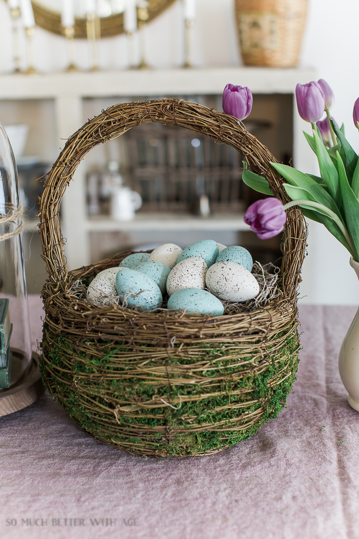 12 Creative Easter Decorating Ideas/robin's egg blue Easter eggs - So Much Better With Age