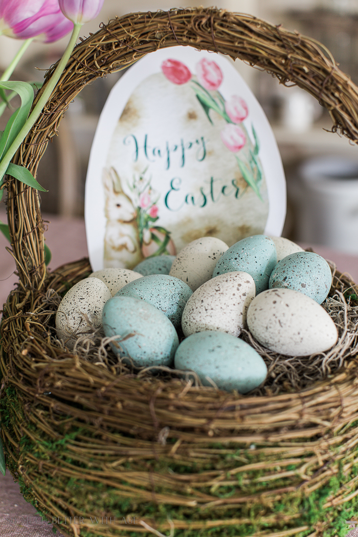The Perfect Shade of Robin's Egg Blue for Easter Eggs/Happy Easter - So Much Better With Age