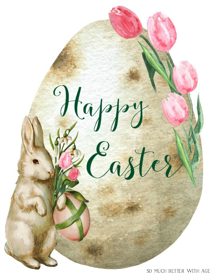 Happy Easter Spring Printable - So Much Better With Age