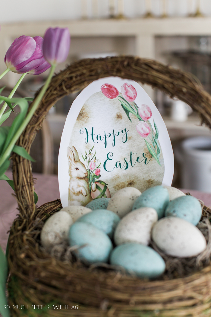 Happy Easter Spring Printable/robin's eggs - So Much Better With Age