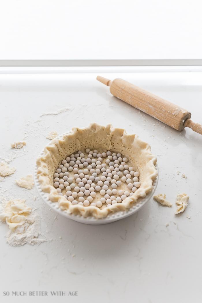 Best Lemon Meringue Pie/prick pie pastry, add pie weights - So Much Better With Age