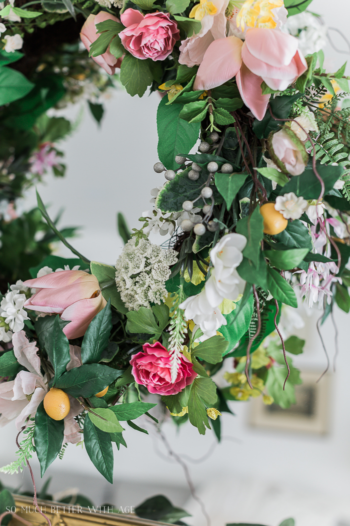 Spring Decorating with Balsam Hill/beautiful spring wreath - So Much Better With Age
