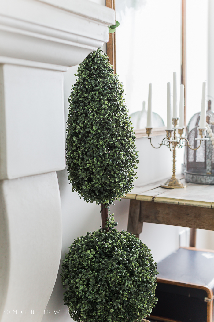 Spring Decorating with Balsam Hill/finial topiary - So Much Better With Age