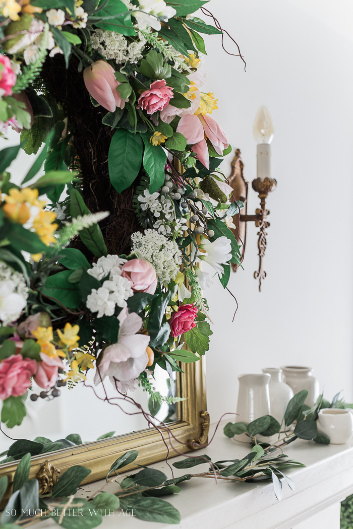 Spring Decorating with Balsam Hill/ floral wreath - So Much Better With Age