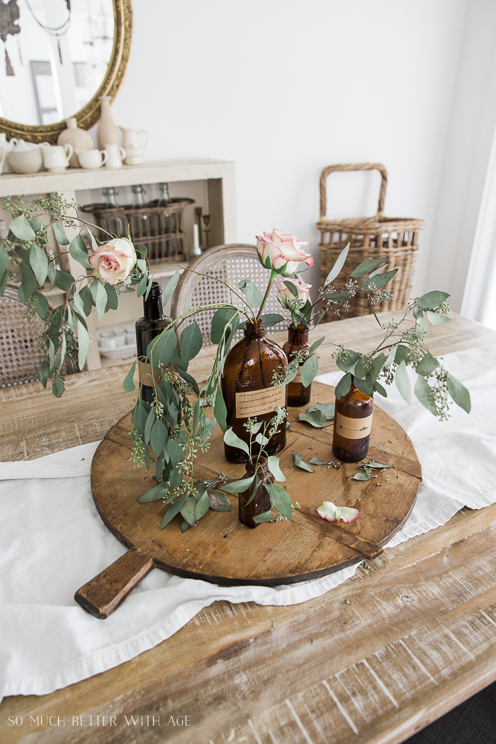 French Vintage Decor by Jamie Lundstrom / brown bottle collection -So Much Better With Age