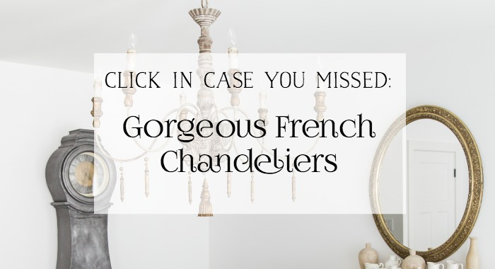 Gorgeous French Chandeliers - So Much Better With Age