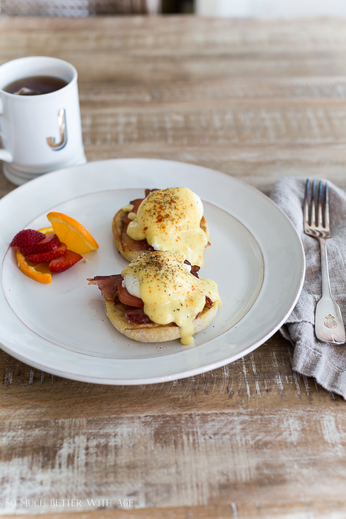 Easy Eggs Benedict with Bacon/eggs benny - So Much Better With Age