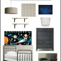 Industrial + Space Boy's Bedroom