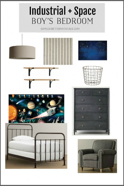Industrial Space Boy's Bedroom Reveal