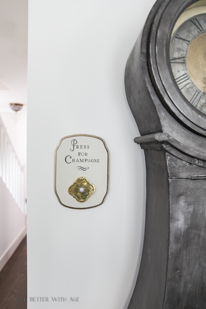 French Vintage Decor by Jamie Lundstrom / press for champagne sign - So Much Better With Age