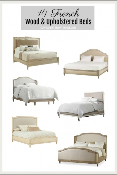 14 French Wood and Upholstered Beds