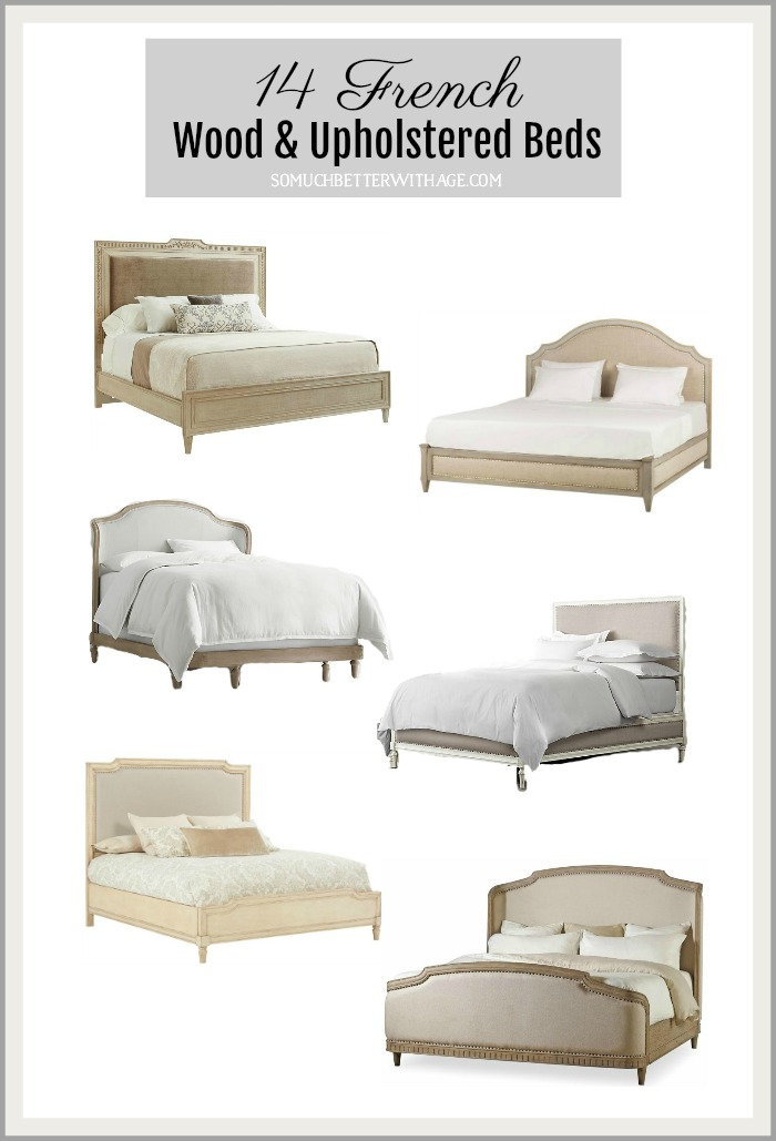 6 French style beds pictured.