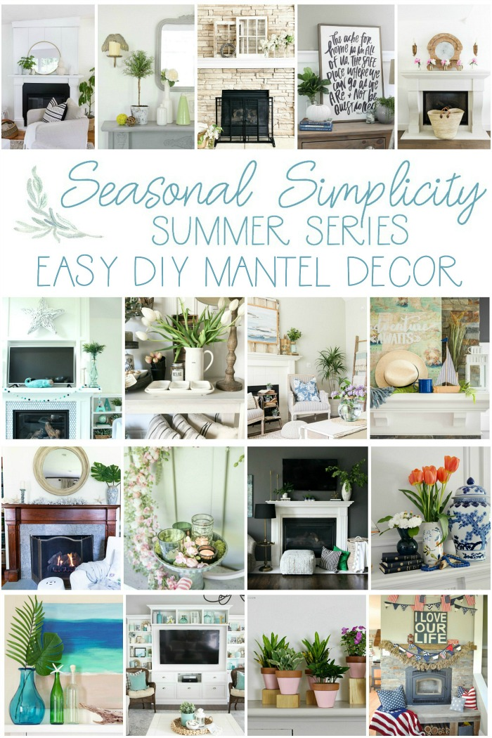Easy DIY Mantel Decor