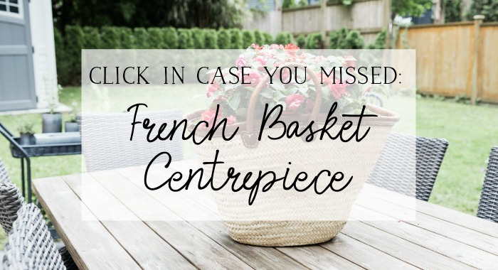 French basket centrepiece poster.