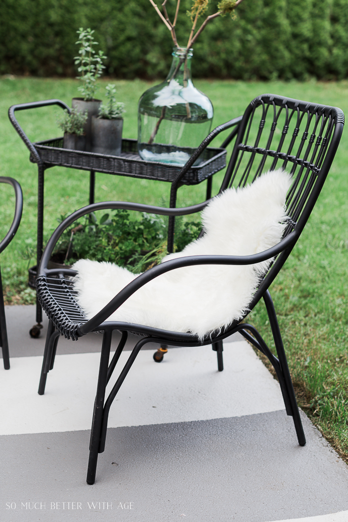 How to Create Two Outdoor Seating Areas in Small Space/Article outdoor chairs - So Much Better With Age
