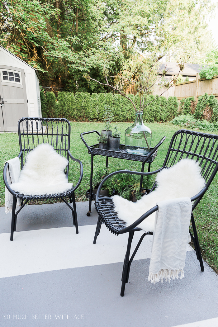 How to Create Two Outdoor Seating Areas in Small Space - So Much Better With Age