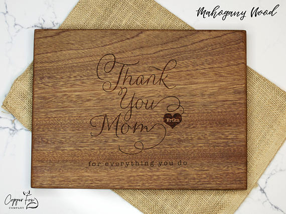 The Best Mother's Day Gifts from Etsy /Personalized cutting board Copper Fox Company-So Much Better With Age
