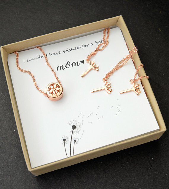 The Best Mother's Day Gifts from Etsy/ Dandelion necklace Pink Carnation Design - So Much Better With Age