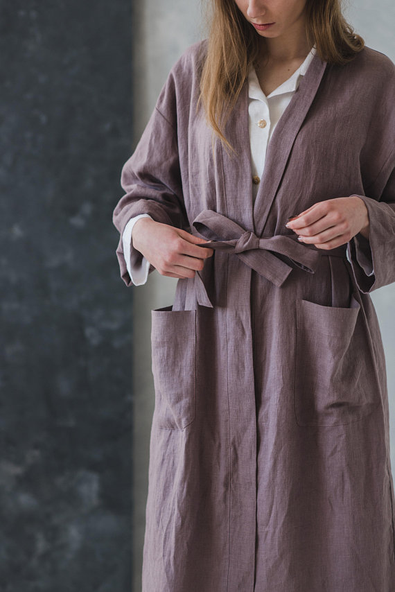 The Best Mother's Day Gifts from Etsy/Kimono style robe Epic Linen - So Much Better With Age