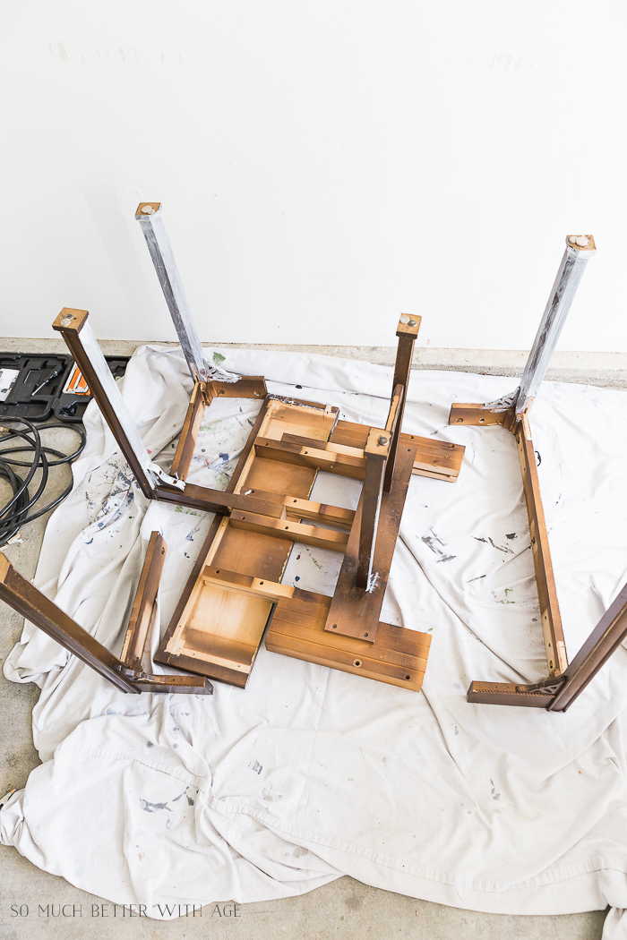 How to Make a Desk from an Extendable Table/take apart table - So Much Better With Age