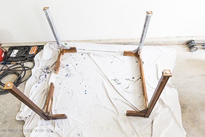 How to Make a Desk from an Extendable Table/unscrew table legs - So Much Better With Age