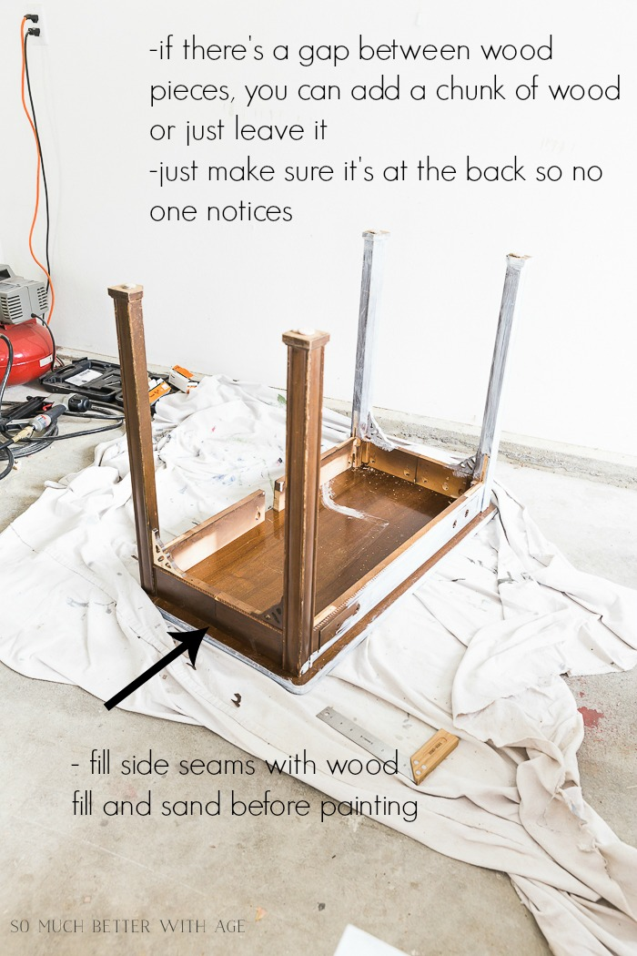 How to Make a Desk from an Extendable Table/fixing desk - So Much Better With Age