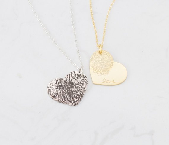 The Best Mother's Day Gifts from Etsy/fingerprint jewelry Silver Handwriting - So Much Better With Age