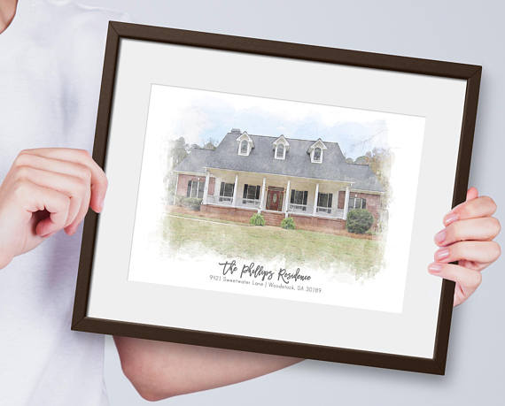 The Best Mother's Day Gifts from Etsy/House portrait Sweet Face and Co.-So Much Better With Age